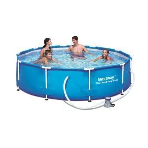 プールBestway 56407 Steel Pro MAX Above Ground Pool, 10-Feet by 30-inch, Blue|planetdream