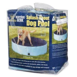 プールCool Pup Splash About Dog Pool in Blue, Portable|planetdream