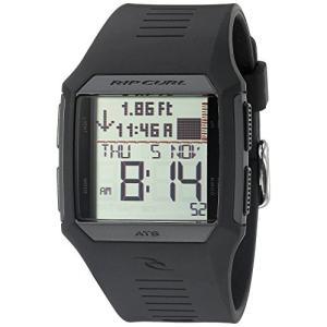 当店1年保証 リップカールRip Curl Men's A1119-BLK Rifles Tide Digital Display Quartz Black Watch|planetdream