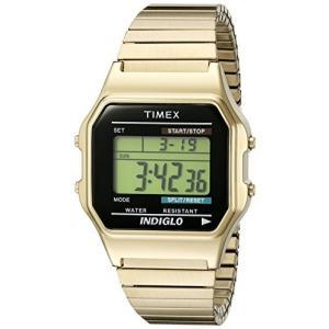 当店1年保証 タイメックスTimex Men's T78677 Classic Digital Gold-Tone Stainless Steel Expansion Band Watch planetdream
