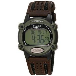 当店1年保証 タイメックスTimex Men's T48042 Expedition Full-Size Digital CAT Brown Nylon/Leather Strap Watch|planetdream