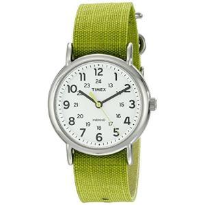 当店1年保証 タイメックスTimex Unisex TW2P659009J Weekender Stainless Steel Watch with Lime Green Nylon Band planetdream