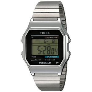 当店1年保証 タイメックスTimex Men's T78582 Classic Digital Silver-Tone Extra-Long Stainless Steel Expansion Band Watc|planetdream