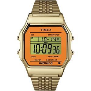 当店1年保証 タイメックスTimex Unisex Digital Watch   Retro Orange Case Gold-Tone Band   TW2P65100 planetdream
