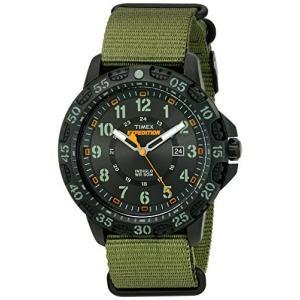 当店1年保証 タイメックスTimex Men's TW4B03600 Expedition Gallatin Green/Black Nylon Slip-Thru Strap Watch planetdream