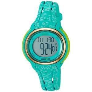 当店1年保証 タイメックスTimex Women's TW5M03100 Ironman Sleek 50 Blue Floral Silicone Strap Watch|planetdream