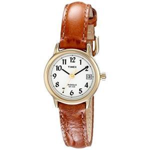 当店1年保証 タイメックスTimex Women's T2J761  Indiglo Leather Strap Watch, Honey Brown/Gold-Tone planetdream