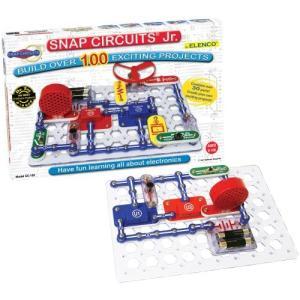 エレンコSnap Circuits Jr. SC-100 Electronics Exploration Kit, Kids Building Projects Kits, STEM Engineering Toys For Kids 8+|planetdream