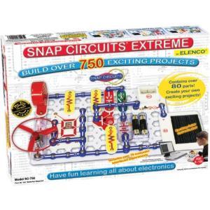 エレンコSnap Circuits Extreme SC-750 Electronics Exploration Kit | Over 750 Projects | Full Color Project Manual | 80+ Snap Ci|planetdream