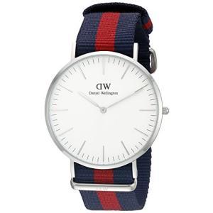 当店1年保証 ダニエルウェリントンDaniel Wellington Men's 0201DW Oxford Stainless Steel Watch With Striped Nylon Ba|planetdream