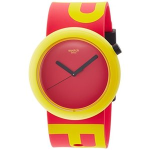 当店1年保証 スウォッチSwatch Men's Originals PNJ100 Red Silicone Quartz Watch|planetdream