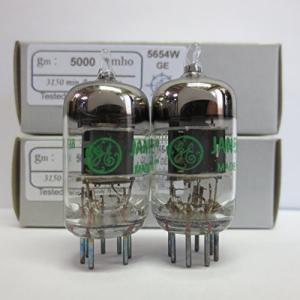 真空管Riverstone Audio - Tested/Matched Pair (2 Tubes) 7-Pin GE JAN 5654W Fully-Tested Vacuum Tubes - Upgrade for 6AK5 / 6J1 / planetdream