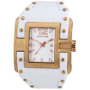 当店1年保証 ポリスPolice Men's PL-13401JSR/04 Avenger Rose Gold IP Stainless-Steel White Leather Watch|planetdream