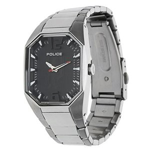 当店1年保証 ポリスPolice Women's PL-12895LS/02M Octane Octagon Black Dial Stainless Steel Watch|planetdream