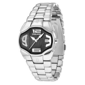 当店1年保証 ポリスPolice Women's PL-12896BS/02M Angel Black Dial Stainless Steel Date Watch|planetdream