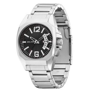 当店1年保証 ポリスPolice Men's PL-12897JS/02M Interstate Black Dial Stainless Steel Watch|planetdream