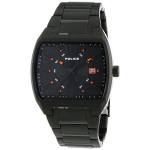当店1年保証 ポリスPolice PL-13407JSB-02M Men's District Black Ion Plated Stainless Steel Bracelet Watch|planetdream