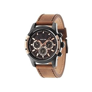 当店1年保証 ポリスPolice 14528JSBR-12 Mens Scrambler Brown Chronograph Watch|planetdream