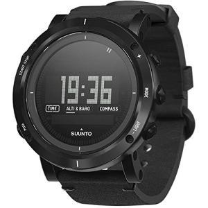 当店1年保証 スントSuunto Essential Carbon Digital Stainless Steel Men's Watch (Leather Strap)|planetdream