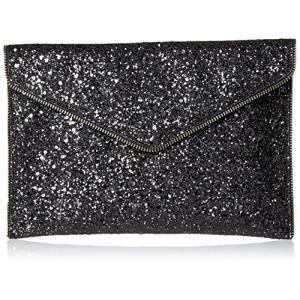 レベッカミンコフRebecca Minkoff Glitter Leo Envelope Clutch, Black/Multi, One Size planetdream