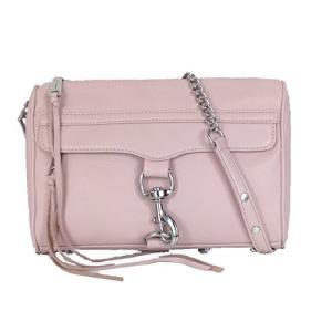 レベッカミンコフRebecca Minkoff MAC Leather Clutch Crossbody Bag, Blush planetdream