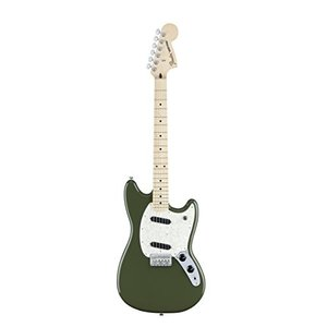 フェンダーFender Mustang Electric Guitar - Maple Fingerboard - Olive|planetdream
