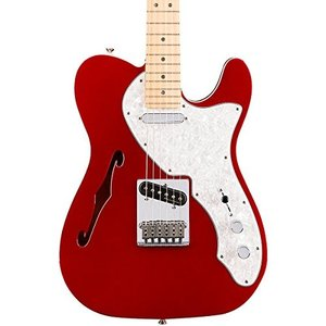フェンダーFender Deluxe Telecaster Thinline Electric Guitar - Maple Fingerboard - Candy Apple Red|planetdream
