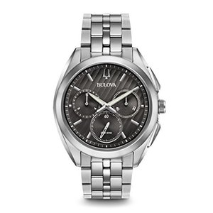 当店1年保証 ブローバBulova Men's 45mm CURV Collection Stainless Steel Chronograph Watch|planetdream