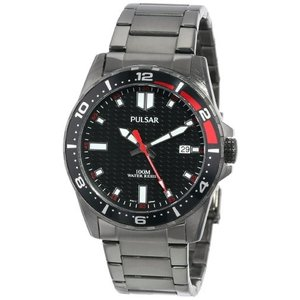 当店1年保証 パルサーPulsar Unisex PS9105 Analog Japanese-Quartz Black Watch|planetdream