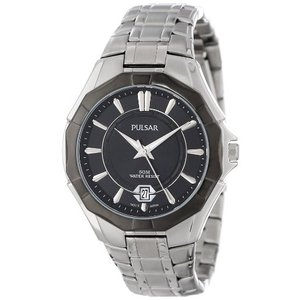 当店1年保証 パルサーPulsar Unisex PS9095 Analog Japanese-Quartz Silver Watch|planetdream