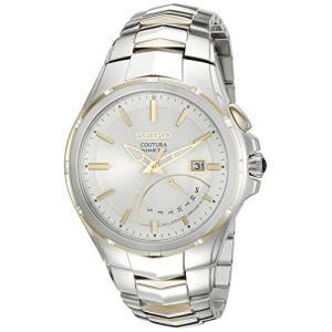 当店1年保証 セイコーSeiko Men's SRN064 Coutura Kinetic Retrograde Two-Tone Stainless Steel Watch|planetdream
