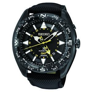当店1年保証 セイコーSeiko Black Dial Stainless Steel Leather Quartz Men's Watch SUN057 planetdream