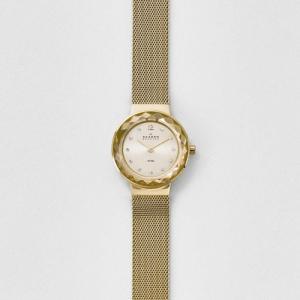 当店1年保証 スカーゲンSkagen Women's 456SGSG Leonora Gold Mesh Watch|planetdream