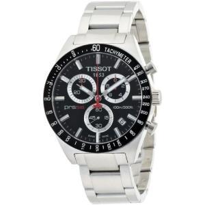 当店1年保証 ティソTissot Men's T0444172105100 PRS 516 Black Chronograph Dial Watch|planetdream