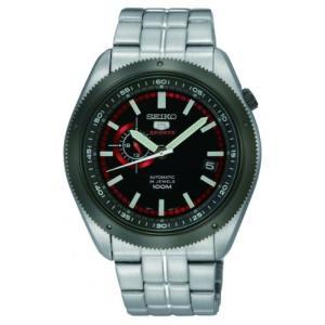 当店1年保証 セイコーSeiko 5 Black Dial Stainless Steel Automatic Mens Watch SSA069|planetdream