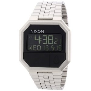 当店1年保証 ニクソンNixon Re-Run Black Dial Stainless Steel Mens Watch A158000-00|planetdream