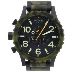 当店1年保証 ニクソンNIXON A083-1428 A0831428 Watch 51-30 CHRONO MATTE BLACK CAMO|planetdream