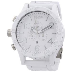 当店1年保証 ニクソンNixon 51-30 Chronograph White Dial White PVD Mens Watch A0831255|planetdream