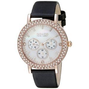 当店1年保証 SO&CO ニューヨークSO&CO New York Women's 5216L.5 Madison Crystal-Accented Rose Gold-Tone Watch with Satin|planetdream