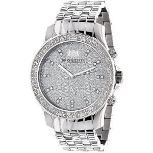 当店1年保証 ラックスマンLUXURMAN Mens Diamond Watch 0.25 ct|planetdream