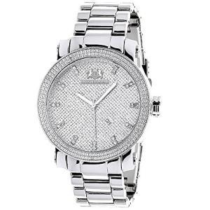 当店1年保証 ラックスマンLUXURMAN Mens Diamond Watch 0.12ct Stainless Steel Band|planetdream