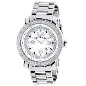 当店1年保証 ラックスマンMens Diamond Watch 0.12 ct Iced Out LUXURMAN|planetdream