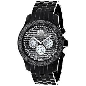 当店1年保証 ラックスマンMens Black Diamond Watch 0.25ct LUXURMAN New Arrival|planetdream