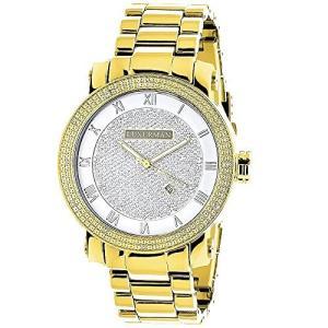 当店1年保証 ラックスマンMens Diamond Watch 0.12ctw of Diamonds by Luxurman|planetdream