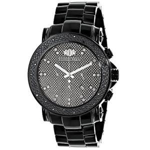 当店1年保証 ラックスマンBlack Diamond Watches: Oversized Mens Diamond Watch by Luxurman 0.25ct|planetdream