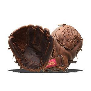 グローブShoeless Joe Gloves Fast Pitch Basket Weave Web Brown Baseball Glove, Left Hand, 12-Inch|planetdream