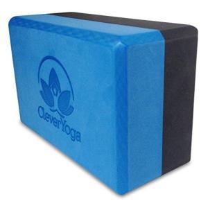 ヨガブロックClever Yoga Block - Yoga Brick - 1 Bi-Color Foam Block Blue/Gray 9x6x4 Inches
