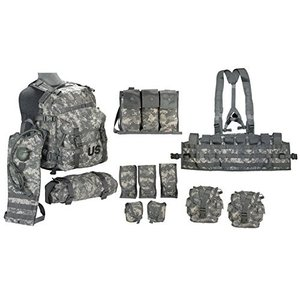 ミリタリーバックパックUS Army Military MOLLE II ACU Camouflage Rifleman Set (Assault Pack + FLC ect)|planetdream