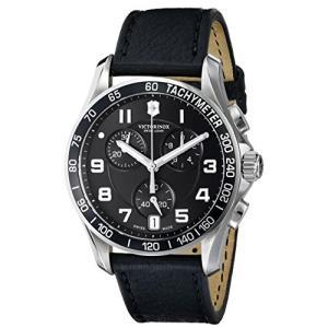 当店1年保証 ビクトリノックスVictorinox Men's 241493 Chrono Classic Analog Display Swiss Quartz Black Watch|planetdream