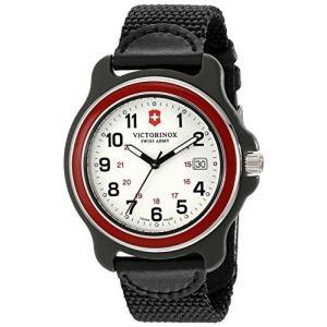 当店1年保証 ビクトリノックスVictorinox Men's 249085 Original XL Swiss Quartz Watch With Black Nylon Band|planetdream